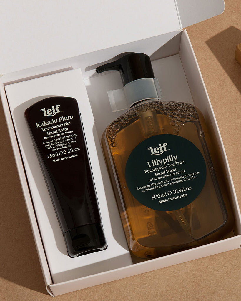 LEIF Botanical Hand Wash & Lotion Gift Set in Lillypilly