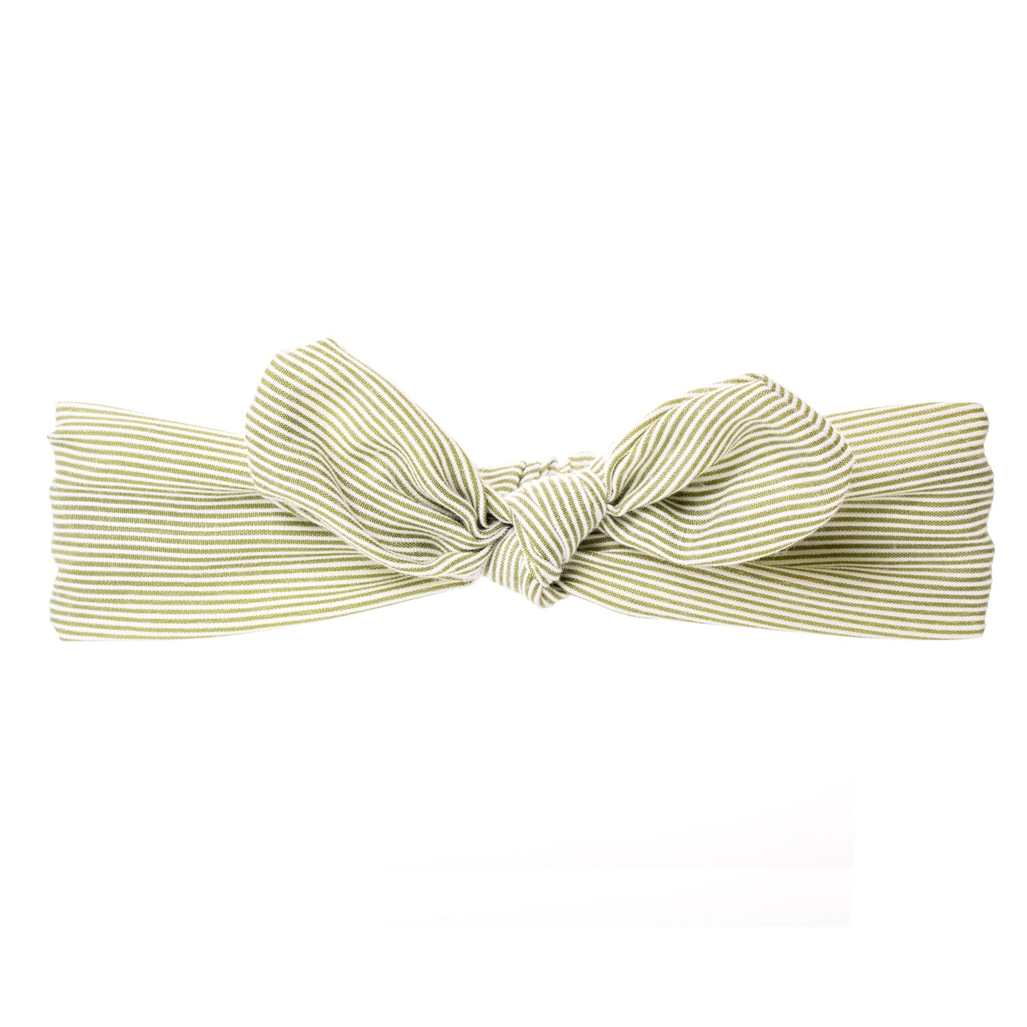 Bonnie Ears headband Olive Green & White Stripes