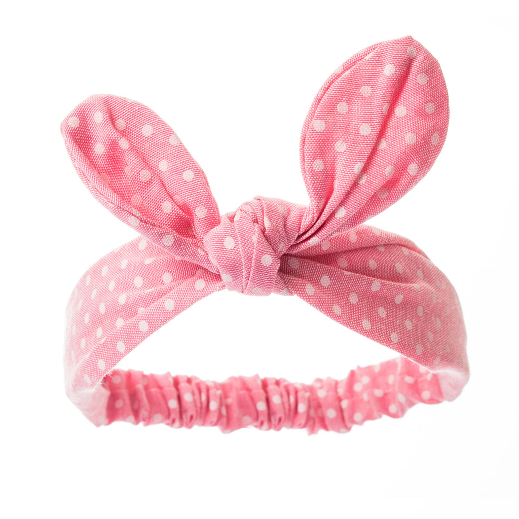 Bonnie Ears headband Pink & White Freckles