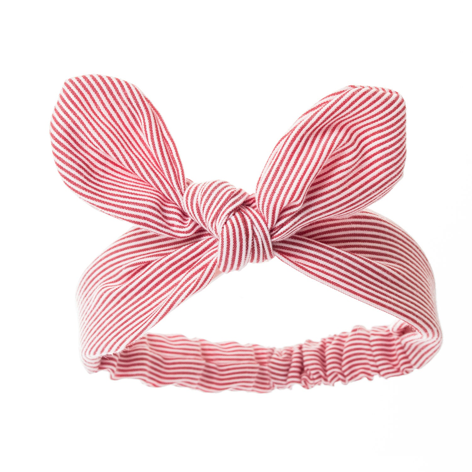 Bonnie Ears headband Red & White Stripes