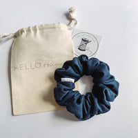 Midnight blue Velvet Scrunchie