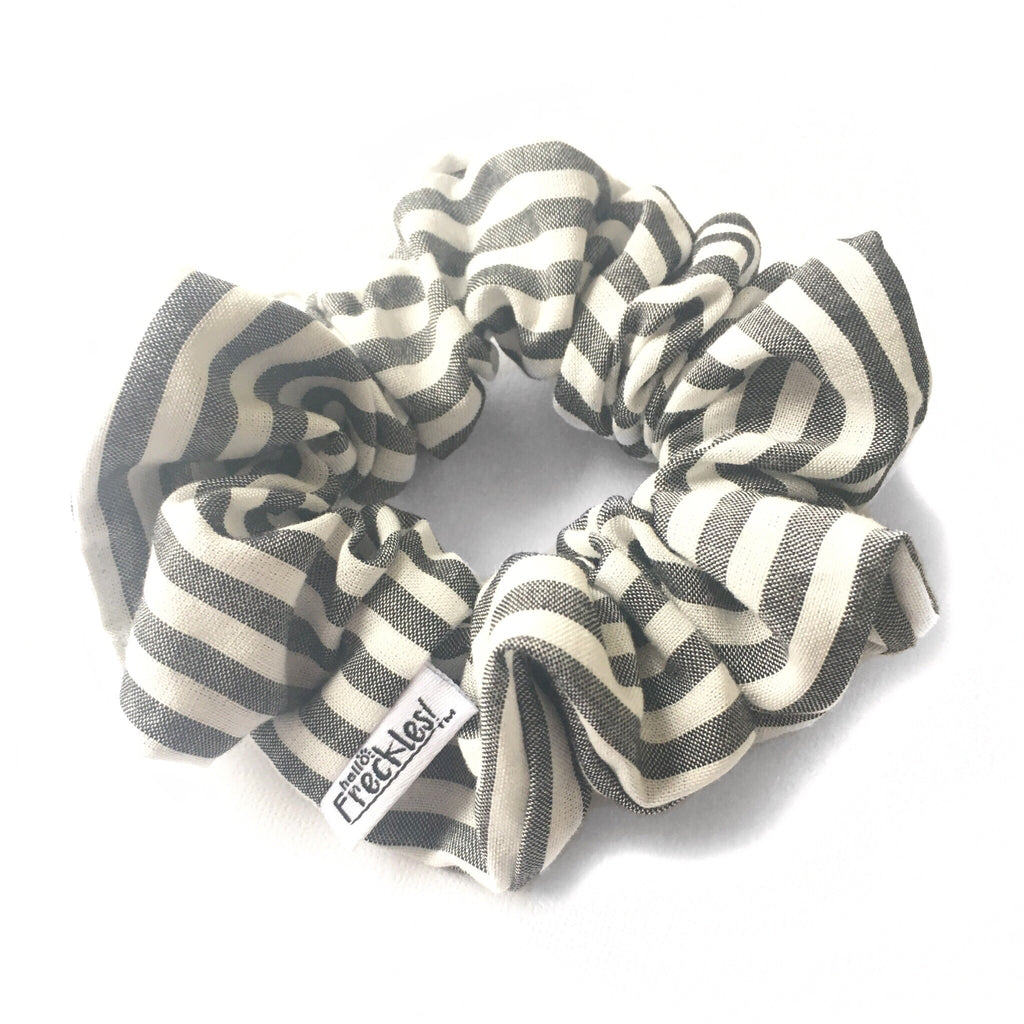 Sunshine Black Stripe Scrunchie