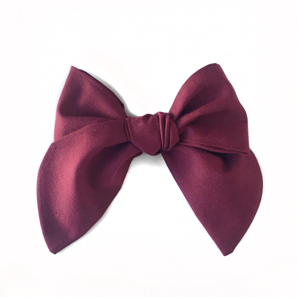 Sailor Bow Burgundy