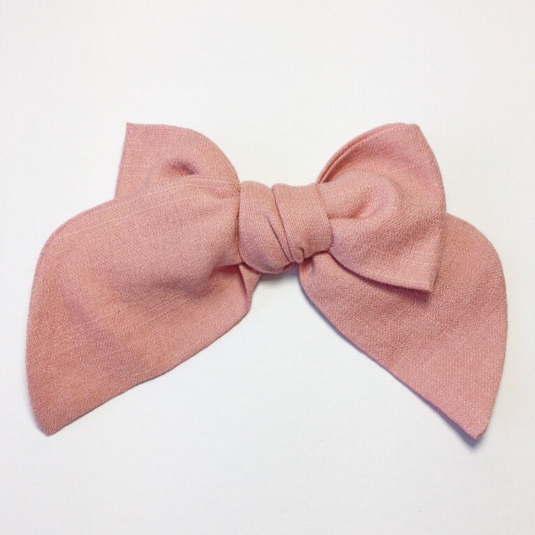 Sailor Bow Petal Rose Linen