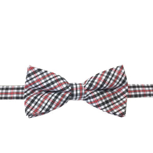 Edinburgh - Charcoal and red tiny plaid