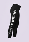 "MWM Performance White  "" Confident and Curvy""  Workout Leggings"