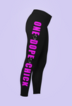 "MWM Performance ""One Dope Chick"" Pink Workout Leggings"