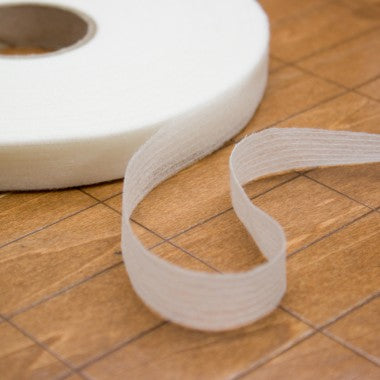 Fusing - Straight Cut Tape Natural 40mm. $NZD .40cents per mtr