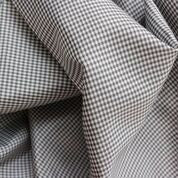 Micro Gingham Grey. 1/4 Metre. NZ$2.50.