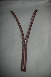 "YKK Zip 36cm/14"" Closed end. Brown - $7.50 NZD"
