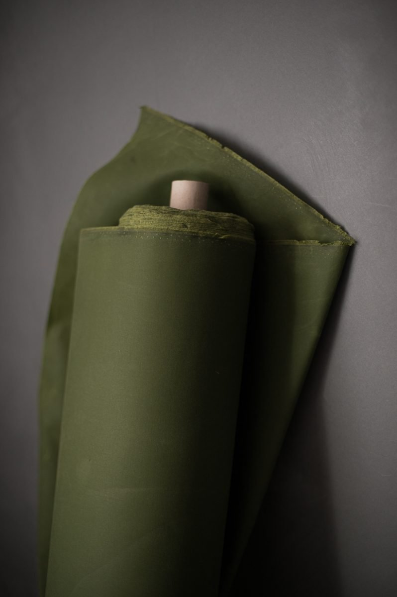 Oilskin - Grass. 1/4 Metre. $16.00NZD TEMP OUT OF STOCK