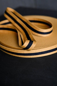 Claremont Yellow Black Webbing  NZD $8.40 per mtr