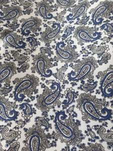 Teal Paisley Lining -1/4 Mtr $5.00NZD