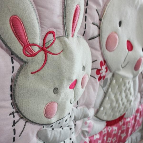 DreamCots 8 Pieces Bedding Set – Pink Bunny