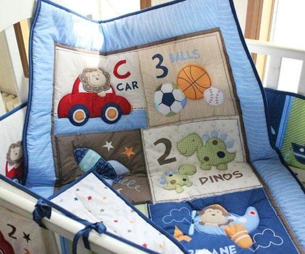 DreamCots 8 Pieces Bedding Set – Blue Car