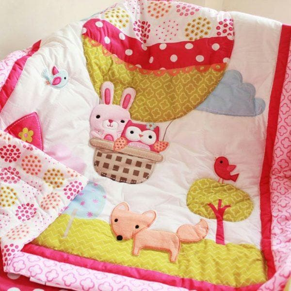 DreamCots 8 Pieces Bedding Set – Pink Balloon