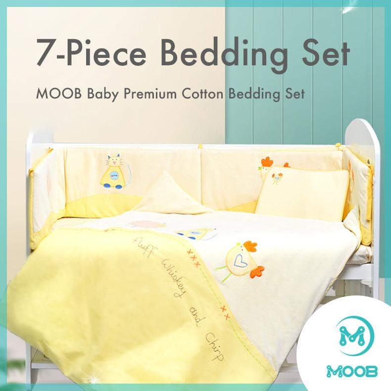 MOOB Baby 7-Piece Cot Bumper Bedding Set