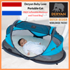 Deryan Ultralight 2 Sec Pop Up Travel Cot / Portable Bed Baby Luxe 2019