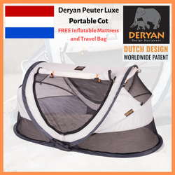 Deryan Ultralight 2 Sec Pop Up Travel Cot / Portable Bed Peuter Luxe 2019