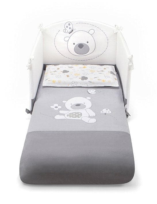 Pali 3 Pieces Bedding Set Poldo Grey