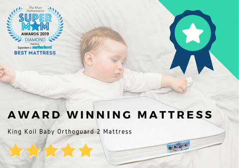 "King Koil OrthoGuard Baby 2 Dual Foam 4"" Mattress 120x60cm (only ICA-endorsed Baby Mattress)"