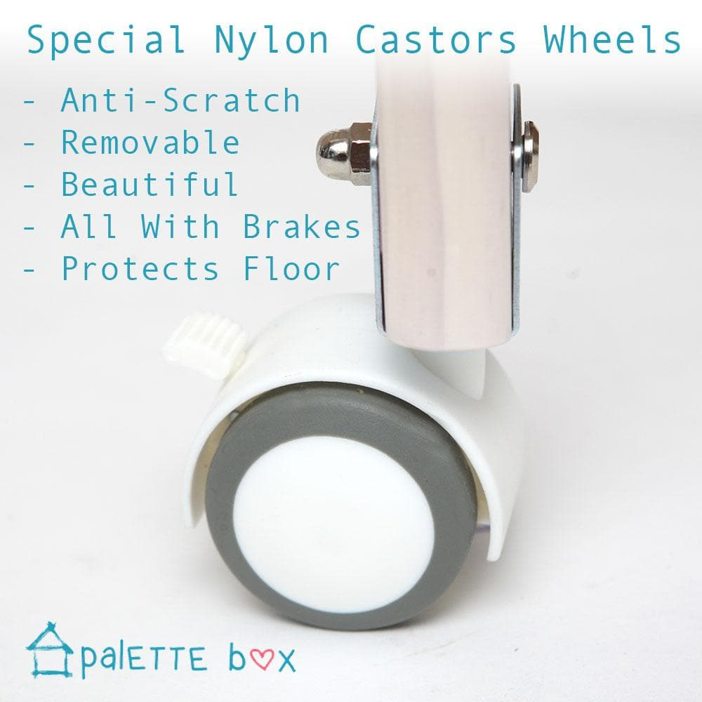 Sweet Dreams Baby Cot - Nylon Castor Wheels