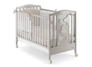 Pali Georgia 4-in-1 Convetible Baby Cot with Rocker 124x64cm Grey Colour + FREE Pali Evolution Mattress