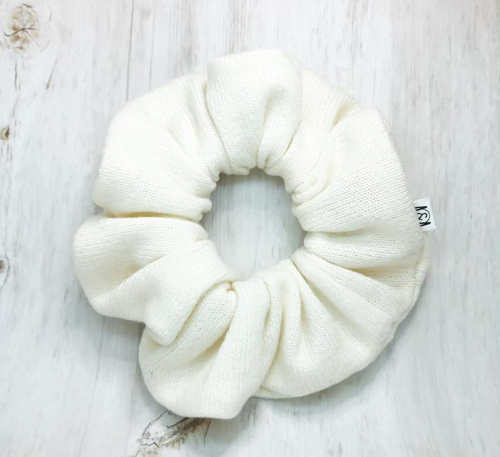 Ivory Sweater Scrunchie