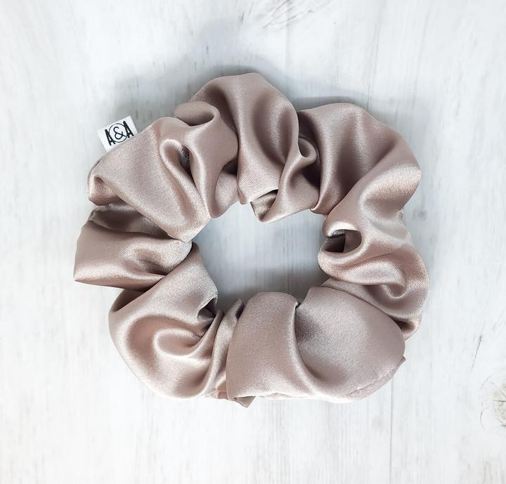 Mauve Satin Lounge Scrunchie