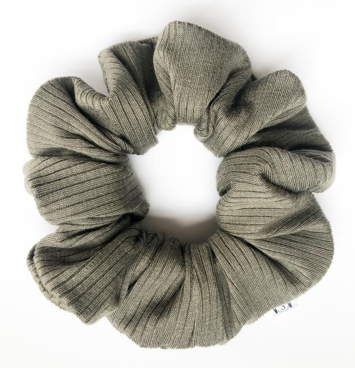 Moss Ribbed Scrunchie
