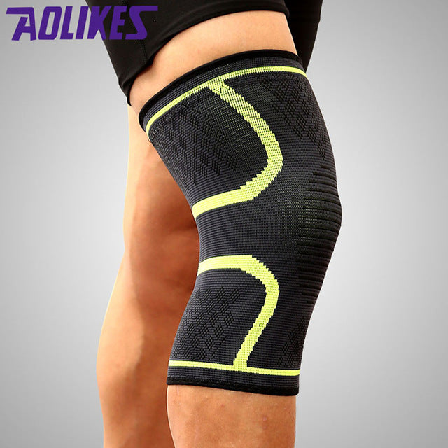 Fitness Running Cycling Knee Support Braces Elastic Nylon Compression Knee Pad