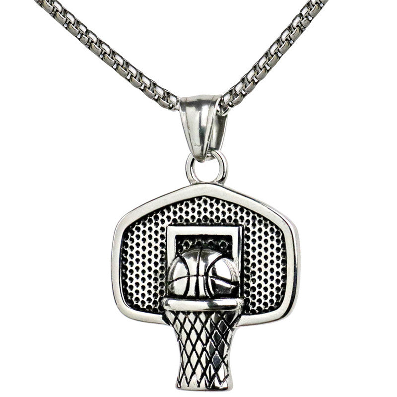 Basketball pendant necklace shop2life basketball pendant necklace mozeypictures Images