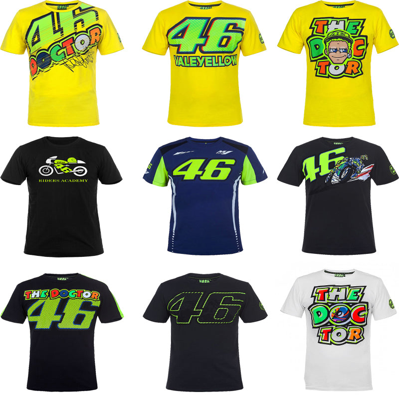 9b643e54 VR46 Valentino Rossi T-Shirt Moto GP 46 The Doctor Signature Motorcycle  Racing Sports for ...