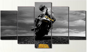 Moto GP Canvas Wall Art Valentino Rossi