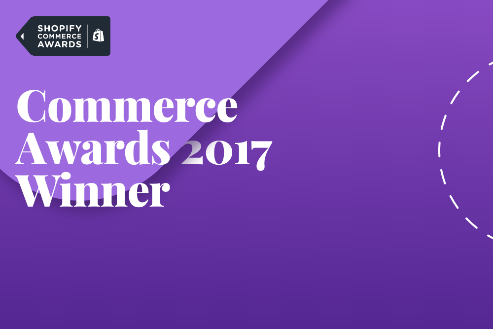 Shopify Commerce Awards 2017 Winner