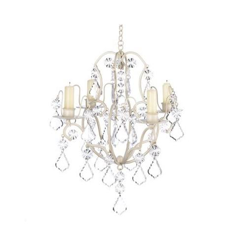 Ivory Baroque Candle Chandelier