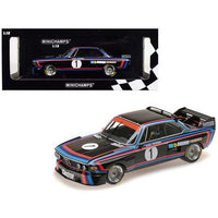 BMW 3.0 CSL #1 Hans-Joachim Stuck Winner Norisring Trophae 1974 (BMW Motorsport) Limited Edition to 468 pieces Worldwide 1/18 Diecast Model Car by Minichamps