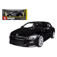 Volkswagen Scirocco R Black 1/24 Diecast Car Model by Bburago