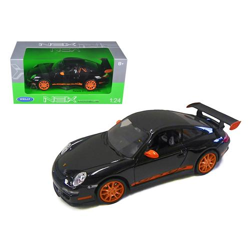 Porsche 911 (997) GT3 RS Black 1/24 Diecast Car by Welly