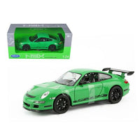 Porsche 911 (997) GT3 RS Green 1/24 Diecast Car by Welly