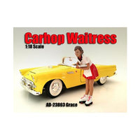 Carhop Waitress Grace Figure For 1:18 Scale Models by American Diorama