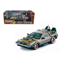 "Delorean Time Machine From ""Back To The Future III"" Movie 1/18 Diecast Model Car by Sunstar"