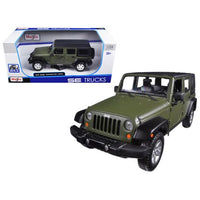 2015 Jeep Wrangler Unlimited Green 1/24 Diecast Model Car by Maisto
