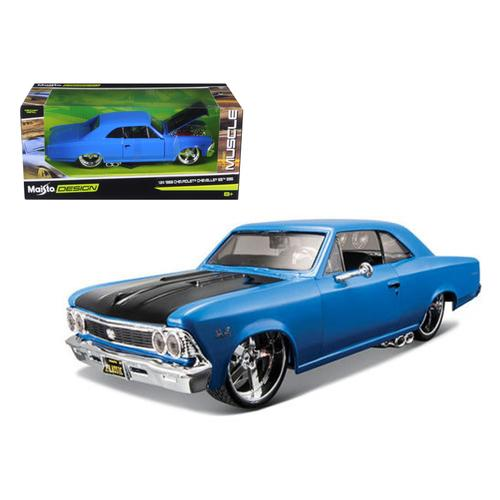 "1966 Chevrolet Chevelle SS 396 Blue ""Classic Muscle"" 1/24 Diecast Model Car by Maisto"