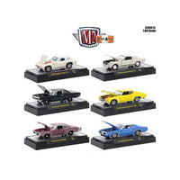 Detroit Muscle 6 Cars Set Release 41 IN DISPLAY CASES 1/64 Diecast Model Cars by M2 Machines