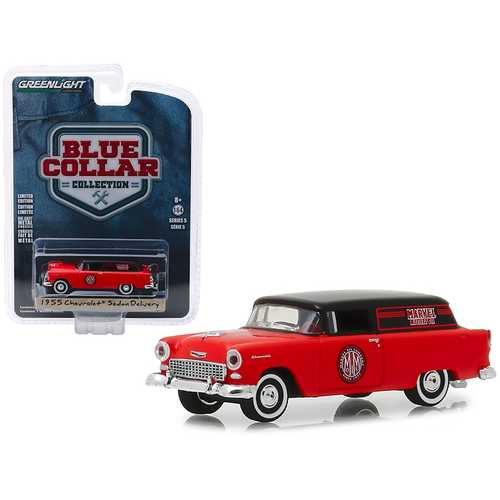 "1955 Chevrolet Sedan Delivery ""Marvel Mystery Oil"" ""Blue Collar Collection"" Series 5 1/64 Diecast Model Car by Greenlight"