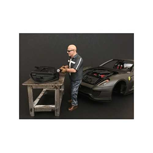 Chop Shop Mr. Fabricator Figure for 1:24 Scale Models by American Diorama