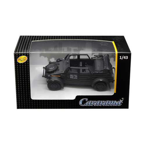 Volkswagen Kubelwagen Convertible K Type 82 Black 1/43 Diecast Model Car by Cararama