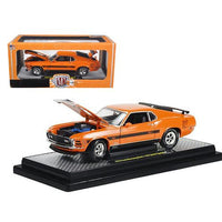 "1970 Ford Mustang Mach 1 428 ""Twister Special"" Grabber Orange 1/24 Diecast Model Car by M2 Machines"