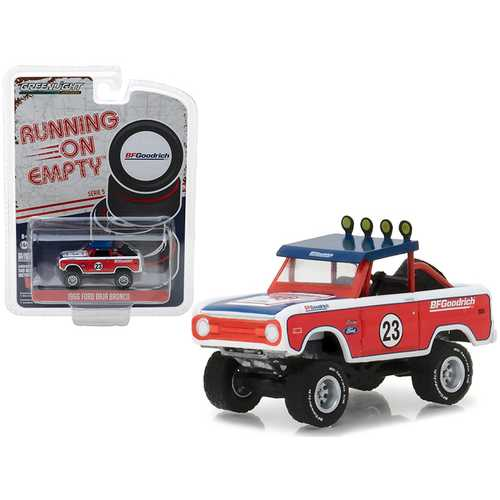 "1966 Ford Baja Bronco Off-Road Truck #23 ""BFGoodrich Tires"" Running on Empty Series 5 1/64 Diecast Model Car by Greenlight"